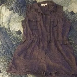 Grey/purplish button down romper